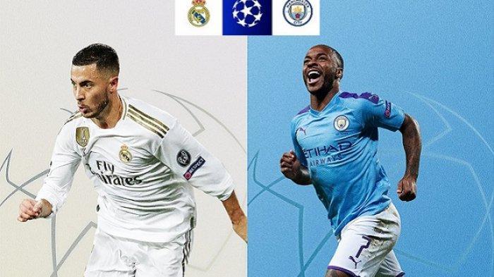 Jadwal Liga Champion Real Madrid vs Manchester City, Madrid Diunggulkan, City Punya Catatan Buruk