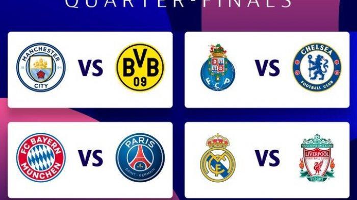 Jadwal Liga Champions di SCTV Liverpool vs Madrid, Chelsea vs Porto, Bayern vs PSG, City vs Dortmund