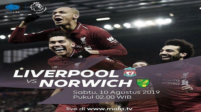 Jadwal Liga Inggris Malam Ini Liverpool vs Norwich via ...