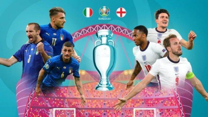 Italia vs Inggris - Laga Final EURO 2020 antara Timnas Italia melawan Timnas Inggris dijadwalkan pada Senin dini hari 12 Juli 2021