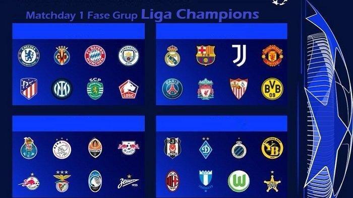 Jadwal Siaran Langsung Matchday1 Fase Grup Liga Champions di Channel TV SCTV Vidio 14 - 16 September