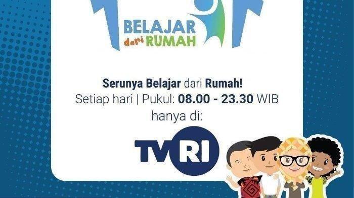 Live Streaming TVRI Program Belajar dari Rumah Sabtu 18 Aprl 2020, LINK Siaran DI SINI