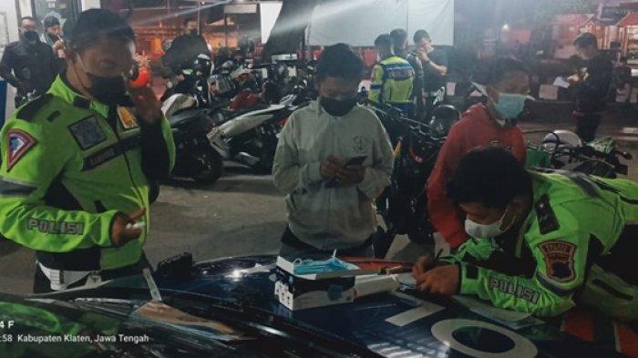 Hanya Satu Malam, Polisi di Klaten Amankan 101 Sepeda Motor yang Gunakan Knalpot Brong