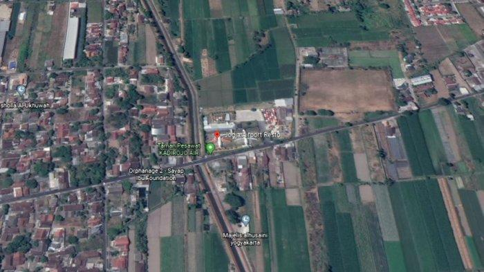 Lokasi untuk pemasangan patok tersebut berada di lokasi Resto Pesawat