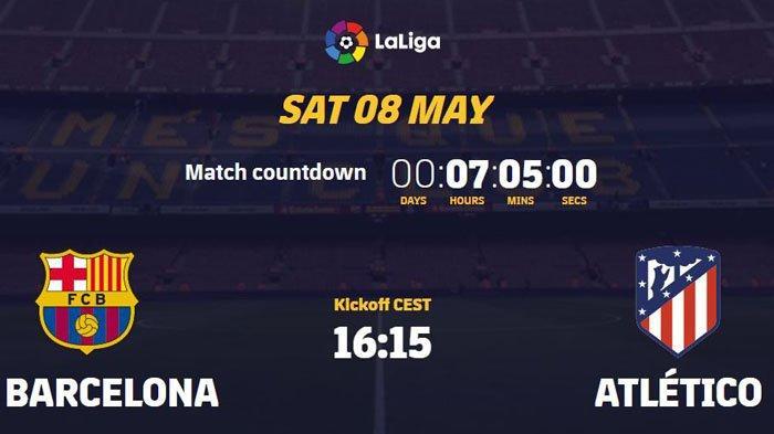 Jadwal Liga Spanyol matchday 35 menyajikan laga Barcelona vs Atletico Madrid pada Sabtu (8/5/2021) mulau pukul21.15 WIB.