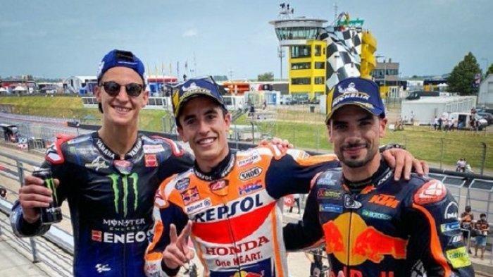 Marc Marquez dan Fabio Quartararo serta Miguel Oliviera. Foto dok motogp Jerman