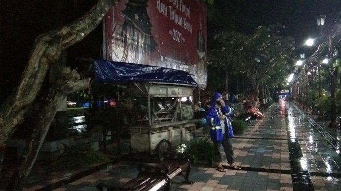 Jelang Pergantian Tahun, Alun-alun Klaten Steril dari Pedagang