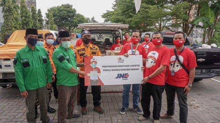 Gandeng GP Ansor dan Banser DIY, JNE Distribusikan Bantuan untuk Pengungsi Erupsi Merapi