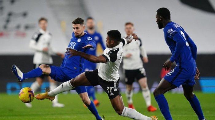 Jorginho dan Rudiger saat Fulham vs Chelsea