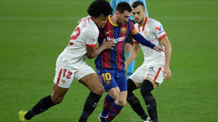 Siaran Langsung Liga Spanyol SEVILLA vs BARCELONA Live di BeIN SPORTS - Prediksi H2H Formasi Line Up