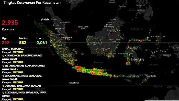 JUMLAH Pasien Covid-19 Indonesia di Bawah Irlandia, Malaysia Peringkat 57 Dunia