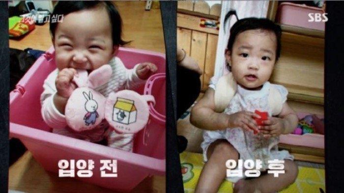 Jungin yang berusia 16 bulan meninggal tahun lalu setelah dianiaya oleh orang tua angkatnya.