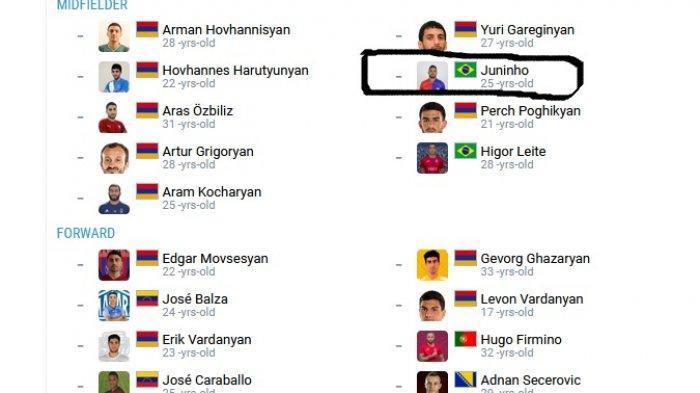 Juninho tak ke PSS Sleman, tapi gabung klub Liga 1 Armenia, Pyunik.