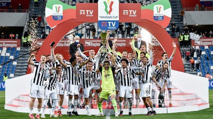 Juventus juara Coppa Italia 2020/2021.