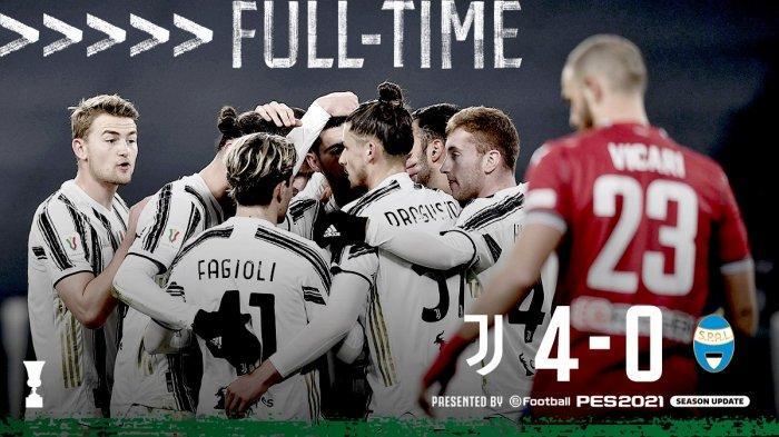 Juventus Ketemu Inter Milan di Semifinal Coppa Italia, Bianconeri Bantai SPAL