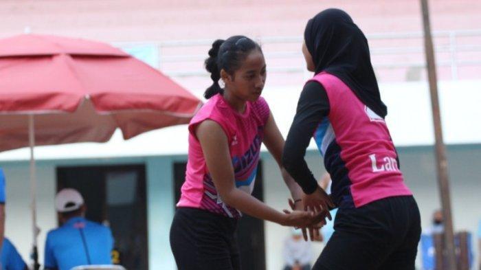 Kalahkan Pasangan Sesama Klub Ganevo, Laras dan Alika Juara Kejurda Junior Voli Pasir DIY 2021
