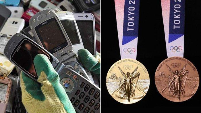 Medali Olimpiade Tokyo 2020 Dibuat dari Ponsel Bekas, Begini Bentuknya