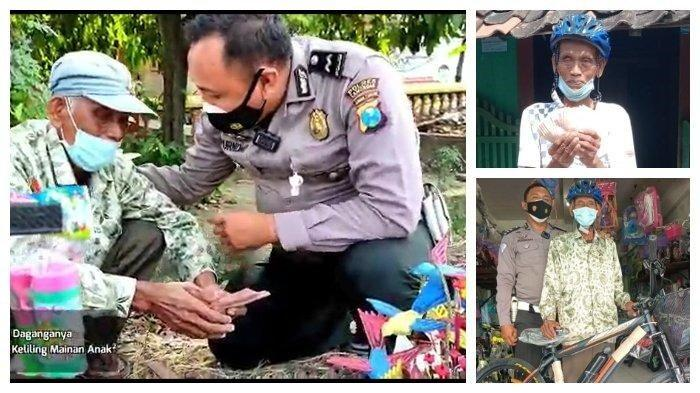 Cerita Kakek Pedagang Mainan di Lamongan, Awalnya Kaget Didatangi Polisi Ternyata Malah Dapat Hadiah