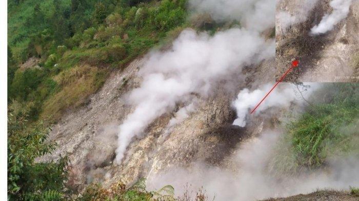 Kawah Siglagah Dieng Semburkan Lumpur dan Gas