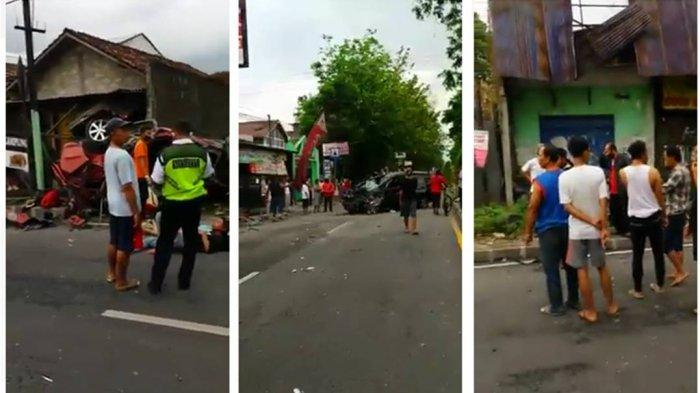 BREAKING NEWS: Laka Maut di Jalan Magelang, Satu Mobilio Terpental dan Terbang, Penumpang Berceceran
