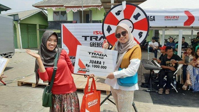 Keceriaan Pedagang dan Juragan Sayur Berjoget Ria di Grebek Pasar Isuzu Traga 2019 Magelang