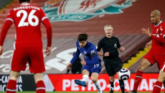 The Blues menang di Anfield untuk pertama kalinya sejak 2014 pada pertandingan Liga Inggris pekan 26 Jumat (5/3/2021).  Skor 0-1 itu sekaligus menjadi kekalahan kandang kelima beruntun bagi Liverpool  .