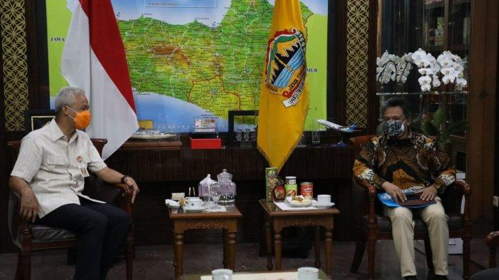 Kepala Perwakilan Unicef Indonesia di Surabaya, Ermi Ndoen usai bertemu dengan Gubernur Jateng Ganjar Pranowo di kantornya, Selasa (28/9/2021)