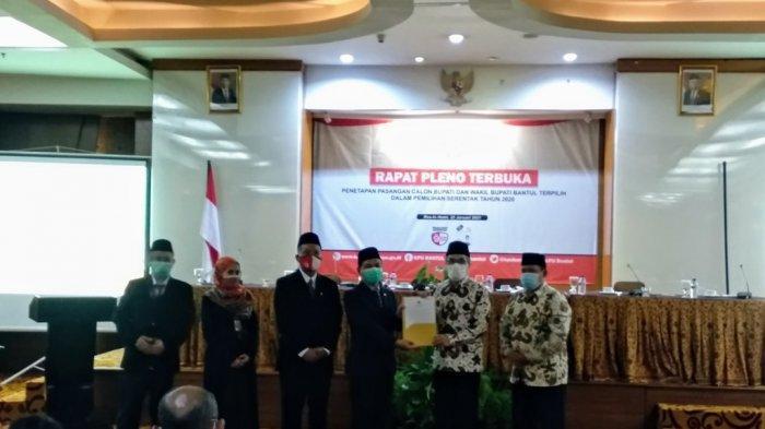 KPU Bantul Usulkan Pengangkatan Halim-Joko ke DPRD Bantul