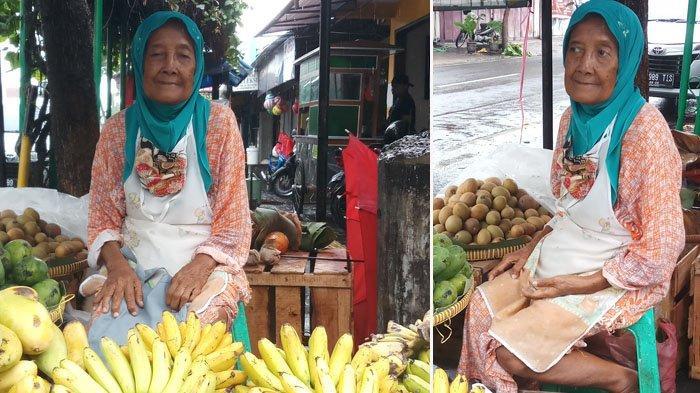 Kisah Mbah Laksmi Penjual Buah di Pasar Lempuyangan Yogyakarta, Semangat di Usia Senja