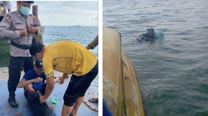 Viral seorang pria nekat berenang dari Kalimantan menuju Malang
