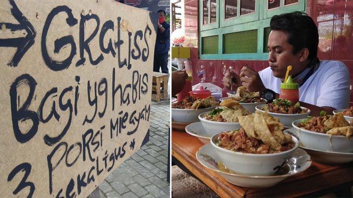 Kisah Warung Mie Ayam Balungan Viral di Bantul, Mampu Habis 5 Porsi Dapat Hadiah Rp100 Ribu