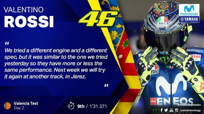 Klasemen Ujicoba Pre-Musim MotoGP 2019 di Sirkuit Jerez, Ducati Tercepat Rossi Nomer 17