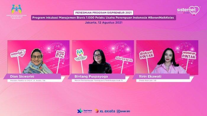 Kolaborasi XL Axiata - Kementerian PPPA RIDorong 1.000 Pelaku Usaha Perempuan 'Naik Kelas'