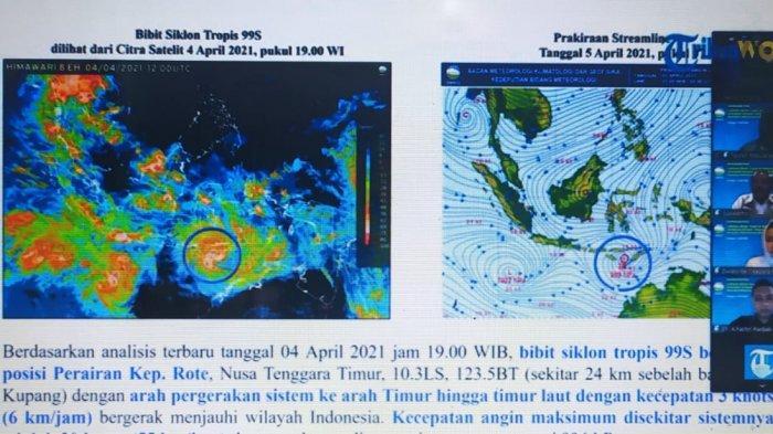 Pukul 01.00 WIB Dini Hari Nanti, BMKG Umumkan Adanya Siklon Seroja, Sama dengan Siklon Cempaka?