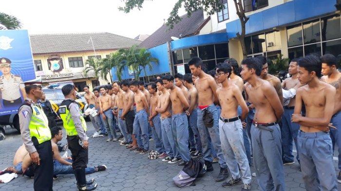 Ugal-ugalan Saat Konvoi Kelulusan, 79 Pelajar Dimankan Polresta Yogyakarta