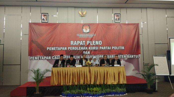 KPU Bantul Gelar Pleno Penetapan Alokasi Kursi dan Calon Terpilih