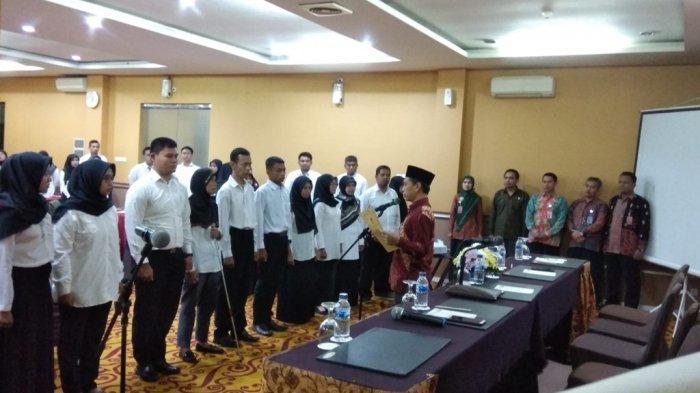 KPU Bantul Kukuhkan 55 Relawan Demokrasi