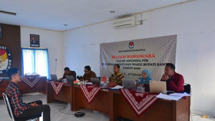 KPU Bantul Lakukan Tes Wawancara untuk Seleksi PPK, 3Kecamatan Jadi Perhatian