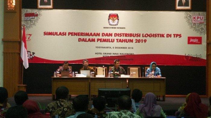 KPU DIY Gelar Simulasi Penerimaan dan Distribusi Logistik di TPS dalam Pemilu 2019