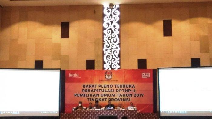 KPU DIY Kembali Menggelar Rapat Pleno Terbuka Rekapitulasi DPTHP 2