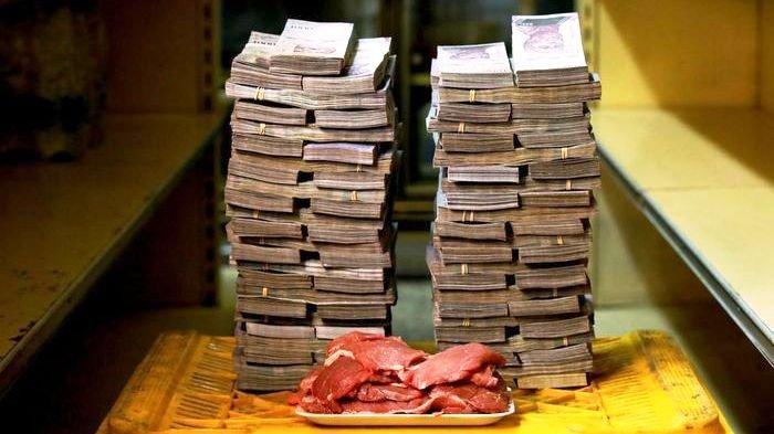 Inflasi Venezuela 1 Juta Persen, Harga Daging 9,5 Juta, Popok Bayi 8 Juta