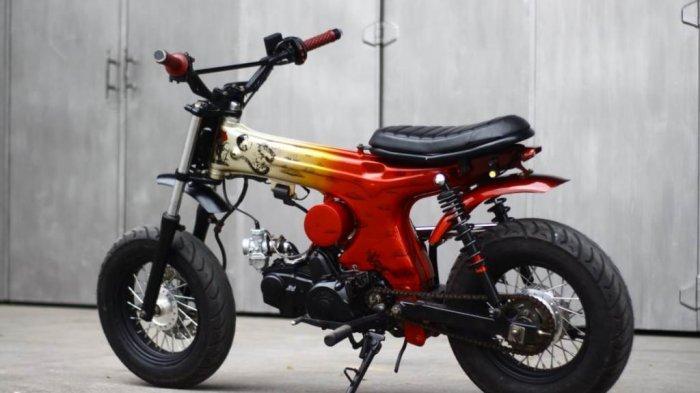 Kustom Bebek Supra Jadi Honda Dax, Tampil Beda Sesuai Karakter Si Owner