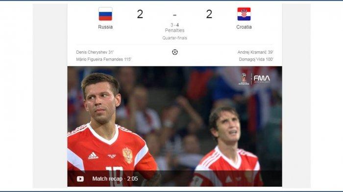Hasil Laga Rusia vs Kroasia : Jalannya Pertandingan, Statistik Hingga Drama Adu Penalti