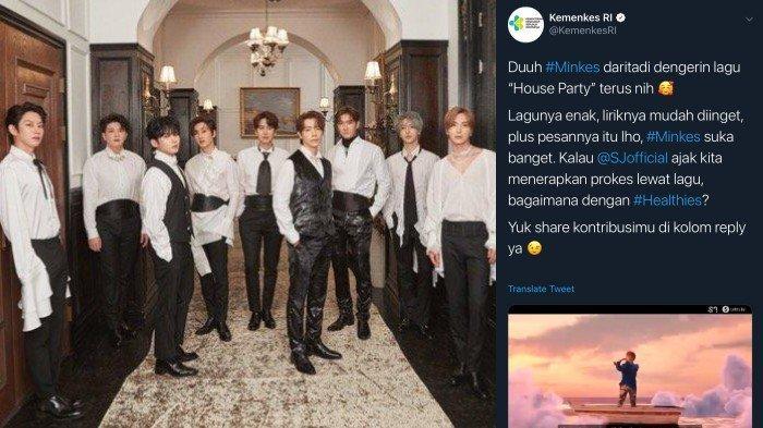 Akun Twitter Resmi Kemenkes RI Ternyata Suka Super Junior, Singgung Lagu House Party di Cuitannya