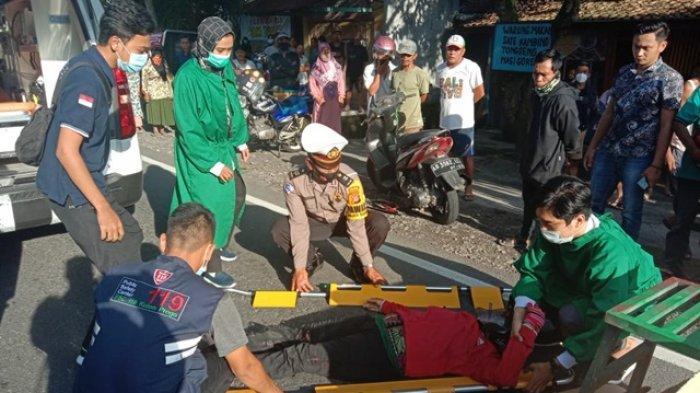 Kecelakaan di Jalan Brosot-Nagung Kulon Progo, Seorang Pengendara Sepeda Motor Alami Patah Tulang