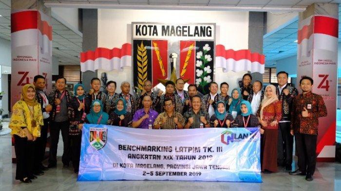 Peserta Latpim Tingkat III Angkatan XIX 2019 dari LAN RI Tertarik Belajar di Kota Magelang