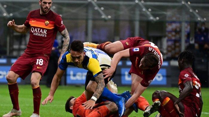 INTER MILAN 3-1 Roma: Conte Marahi Martinez dan Jersey Baru Aneh Nerazzurri