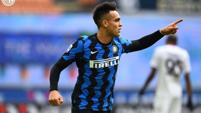 Lautaro Martinez mencetak gol pertama saat Inter Milan vs Crotone