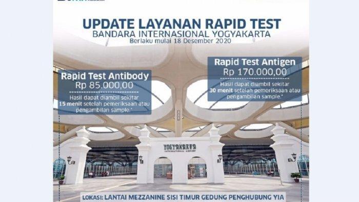 Layanan Rapid Test Antigen Tersedia di Bandara YIA Kulon Progo