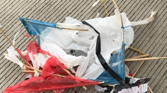 Ada layang-layang yang dilaporkan tersangkut di pesawat Citilink saat hendak mendarat di Bandara Adisucipto pada Jumat 23 Oktober 2020.